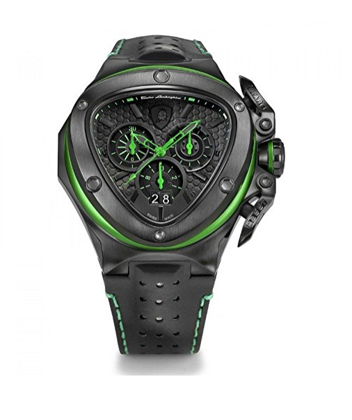 Black and Green Spyder 3132 Chronograph Watch by Tonino Lamborghini
