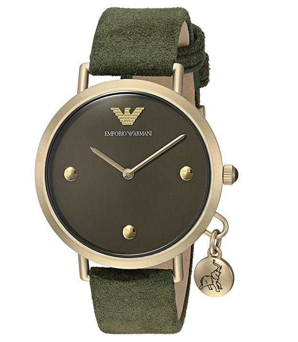 Dark Green and Matte Gold Casual Womens Watch by Emporio Armani
