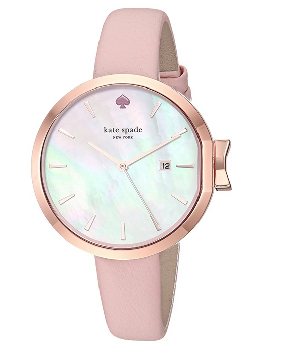 Pink Park Row Watch by Kate Spade