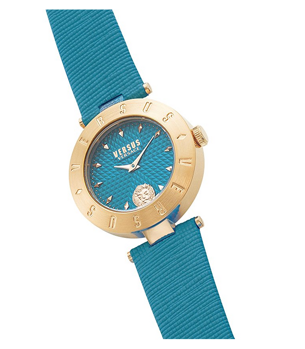 Aqua Marine and Gold Casual Womens Watch by Versace