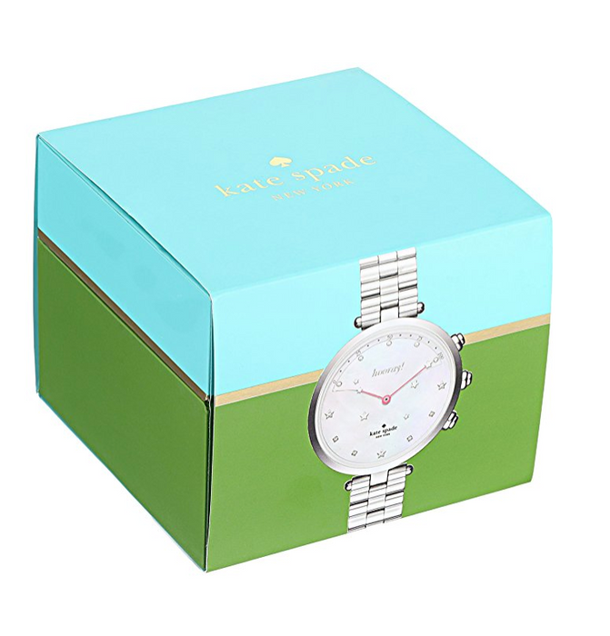 Womens Silver Slim Holland Hybrid Smart Watch by Kate Spade