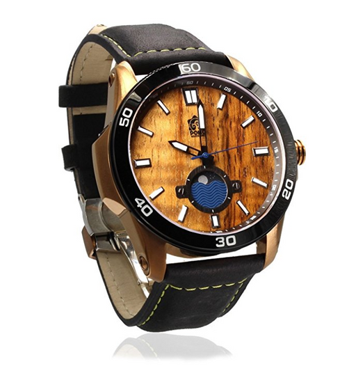 "Hawaiian Wood Watch by Pono Woodworks - ""The Castaway"""
