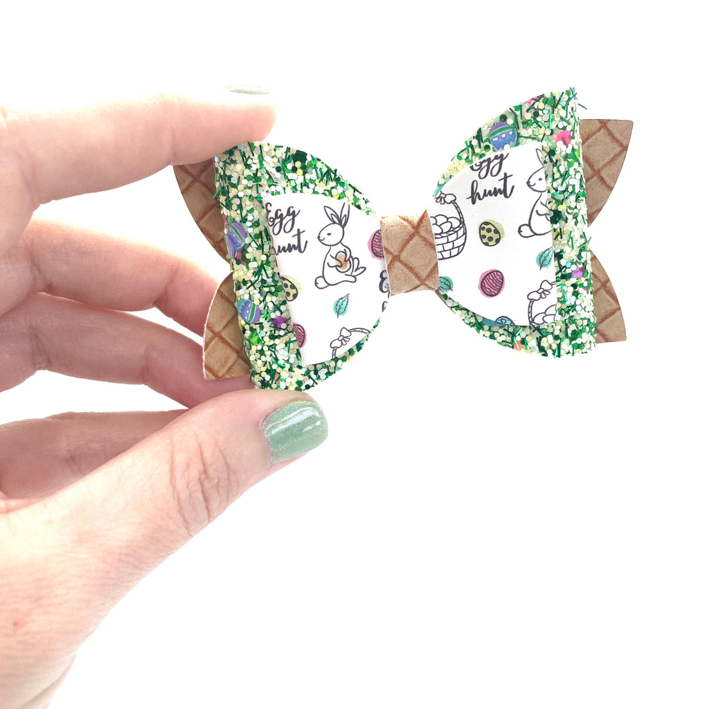 Green Easter Bow // The Nellie