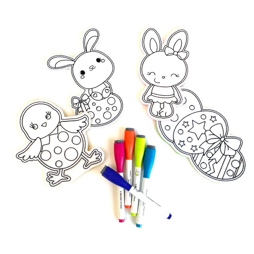 Easter Themed Coloring Dolls