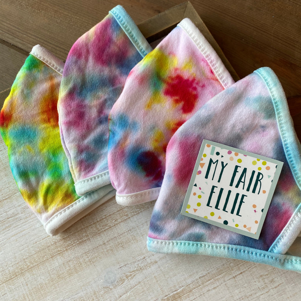 TIE DYE Fabric Mask // My Fair Ellie Fabric Mask