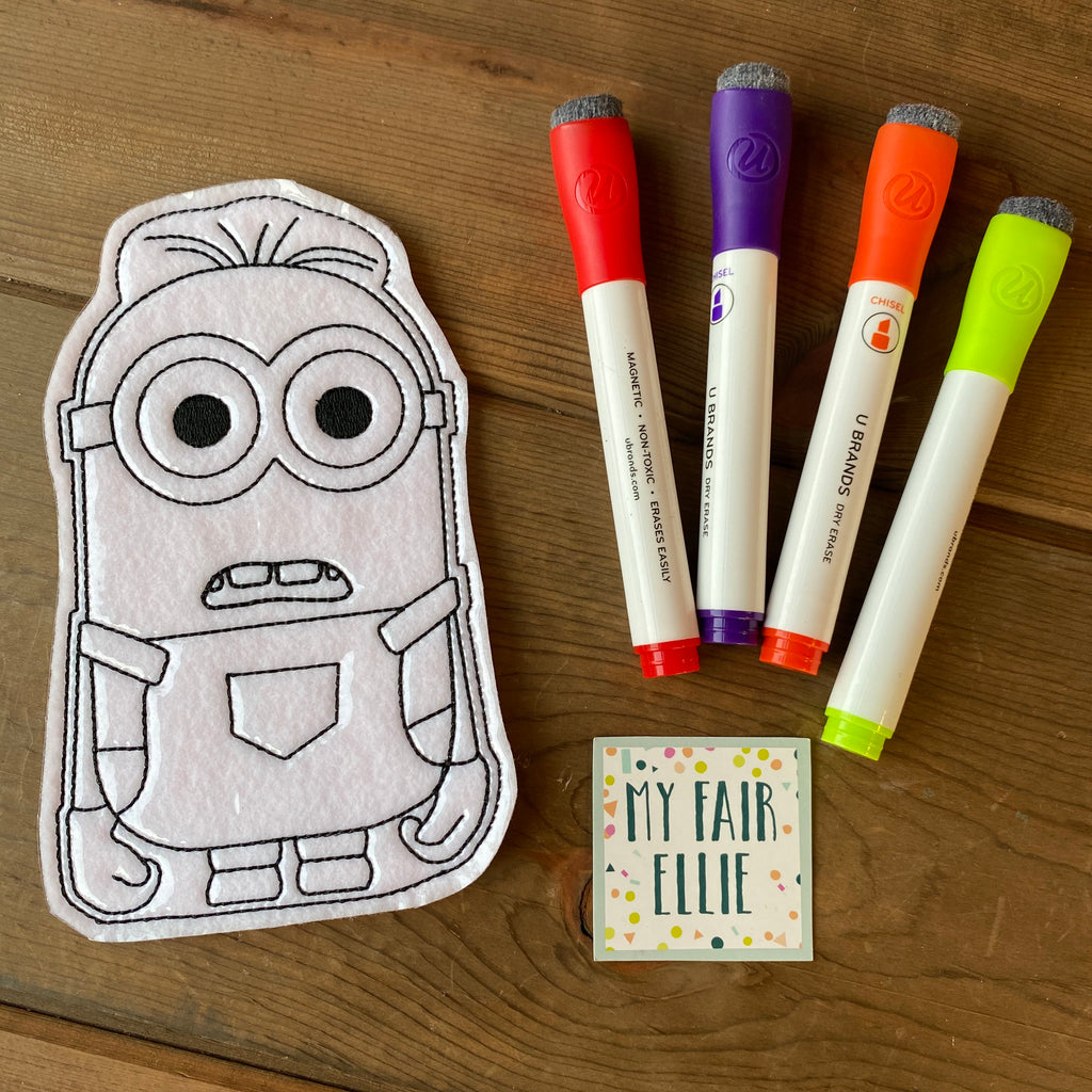 Minion Coloring Doll