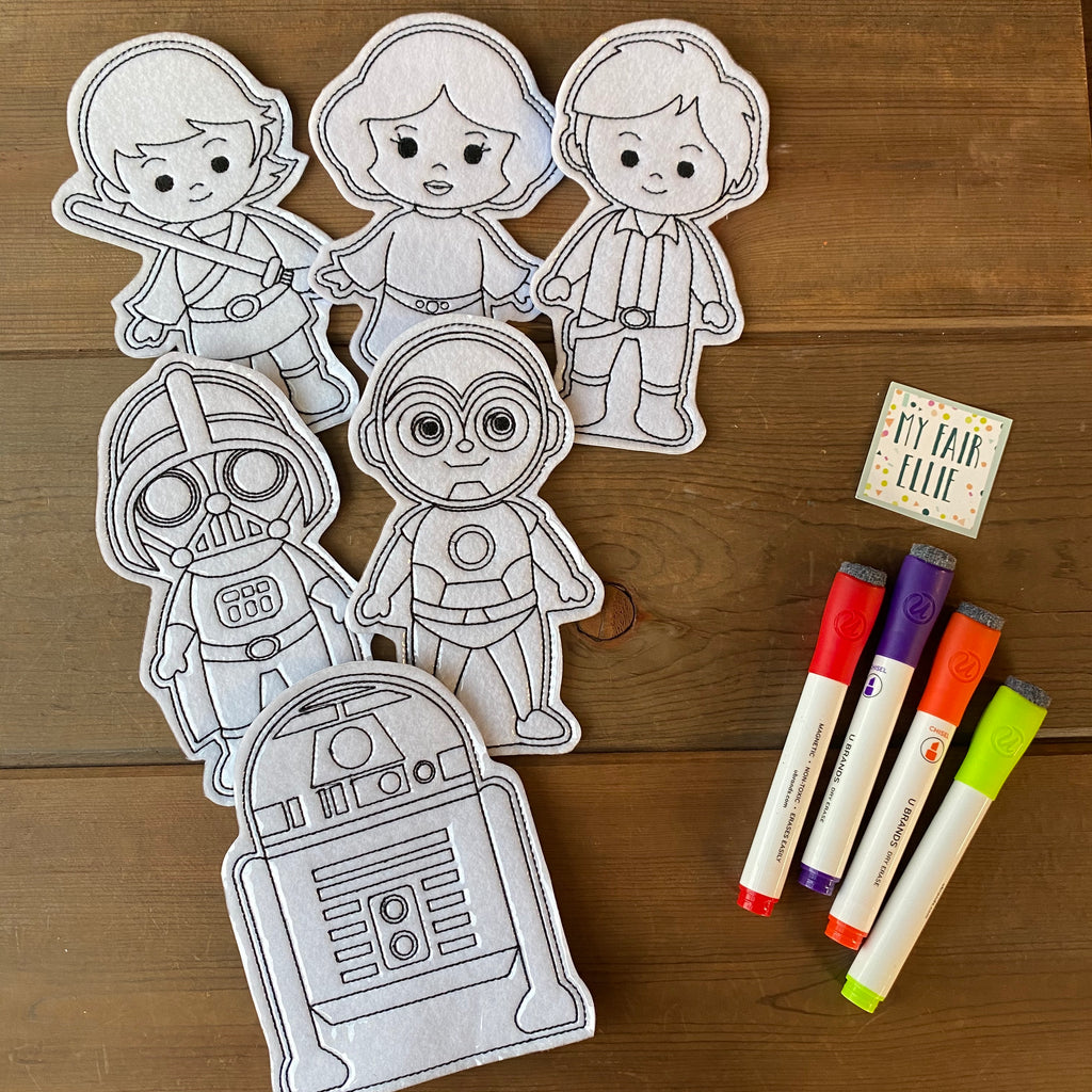 Star Wars Coloring Doll