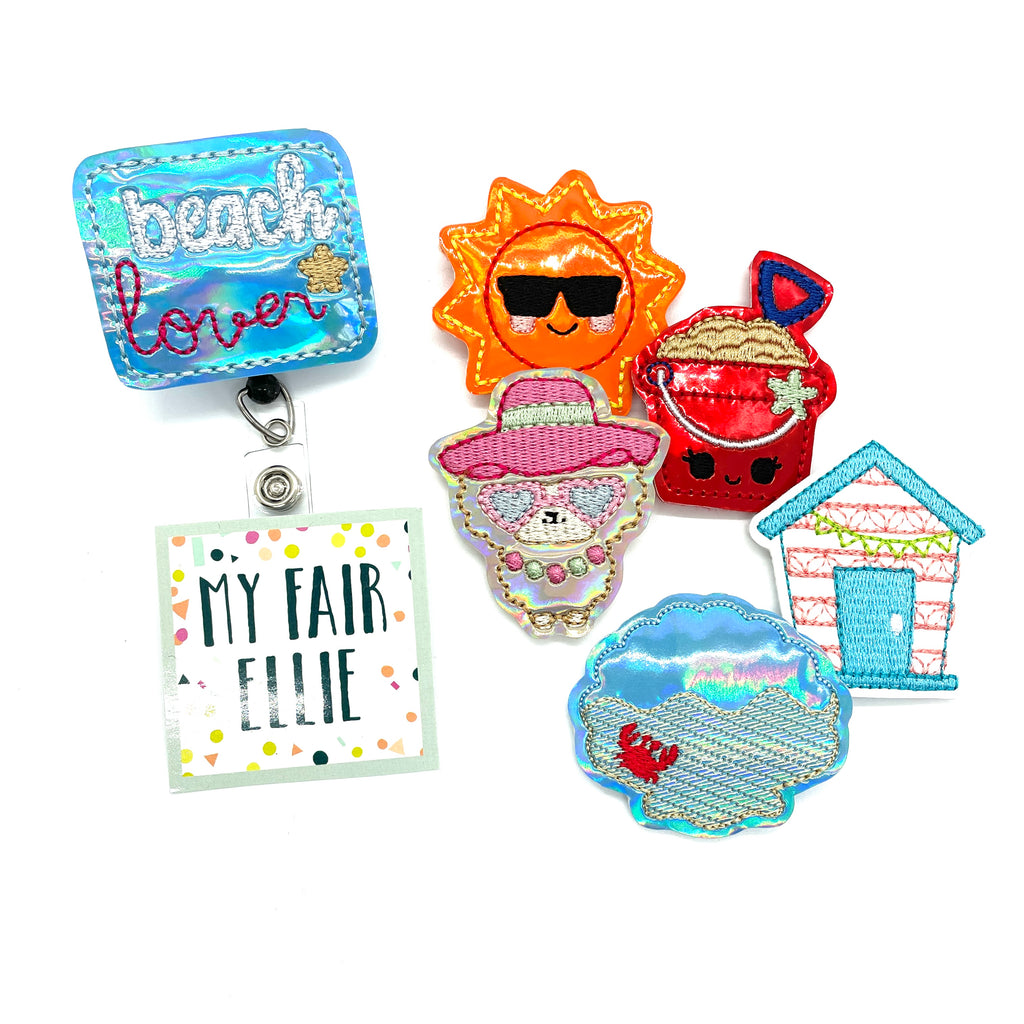 Beach Lover // Badge Buddy - TOPPER ONLY!
