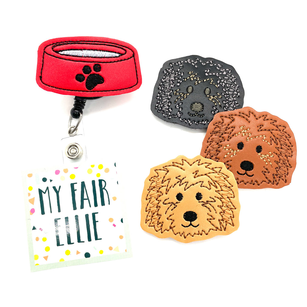 Golden Doodle // Labradoodle // Dogs // Badge Buddy - TOPPER ONLY!