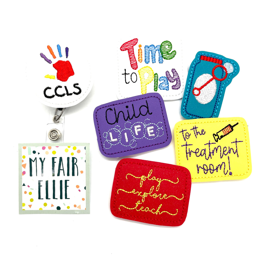 Child Life // Badge Buddy - TOPPER ONLY!