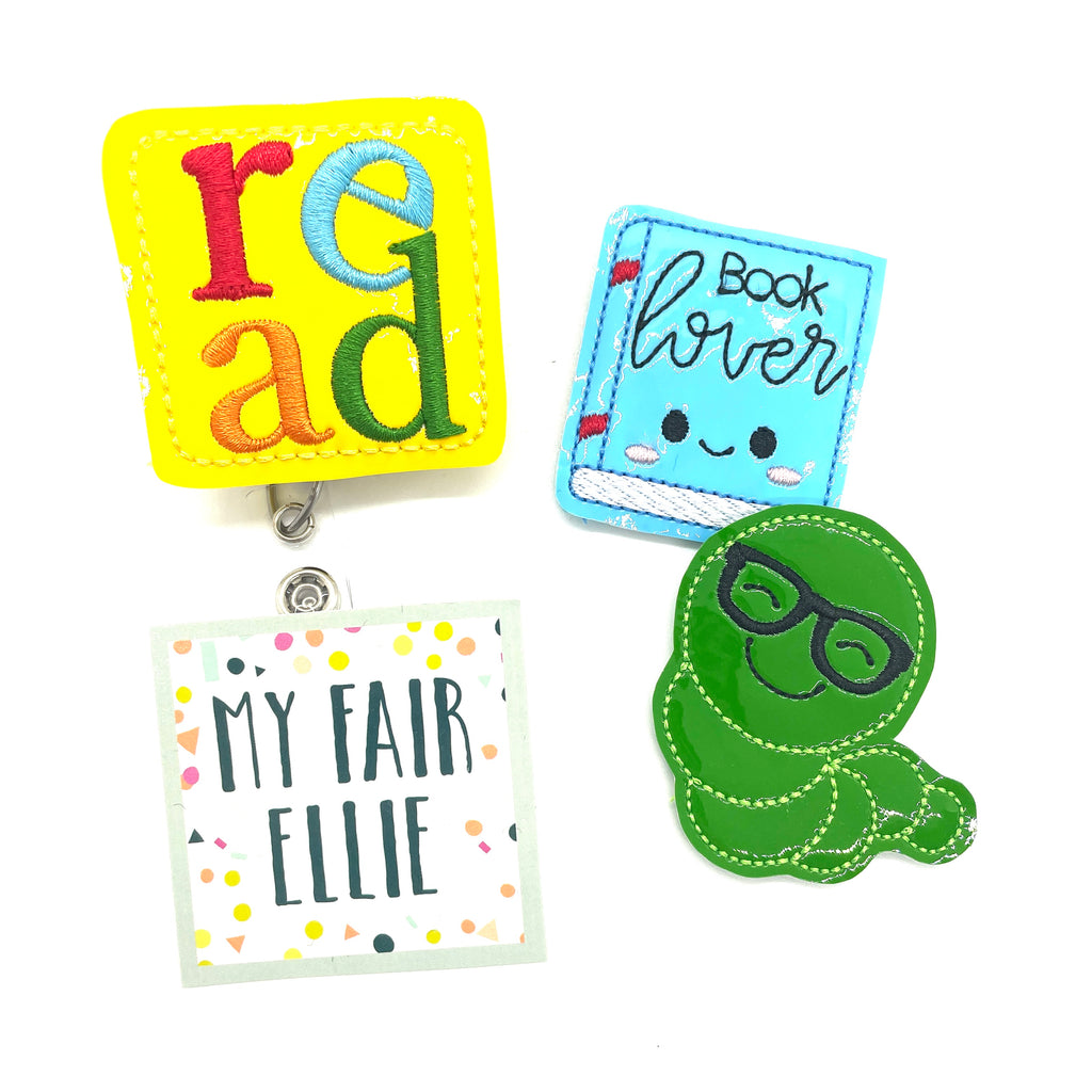 READ // Book Lover // Reading // Badge Buddy - TOPPER ONLY!