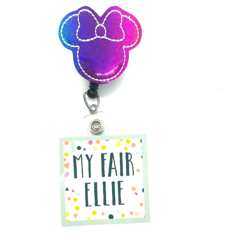 Rainbow Mouse // Badge Buddy - TOPPER ONLY!