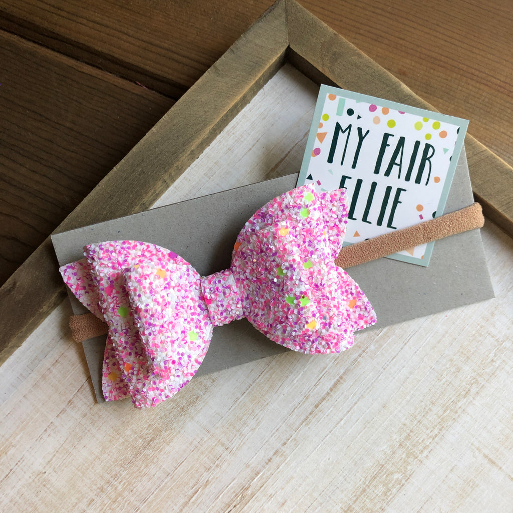 Neon Glitter Bow // The Nellie