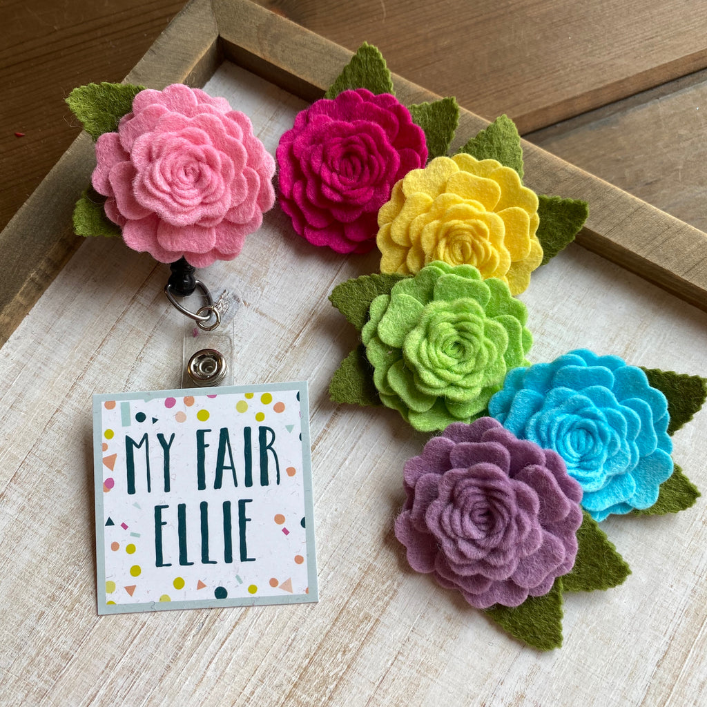 Felt Flower Badge Buddy - TOPPER ONLY!