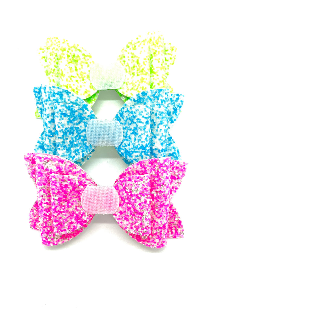 Neon Glitter // Interchangeable Nellie Bow