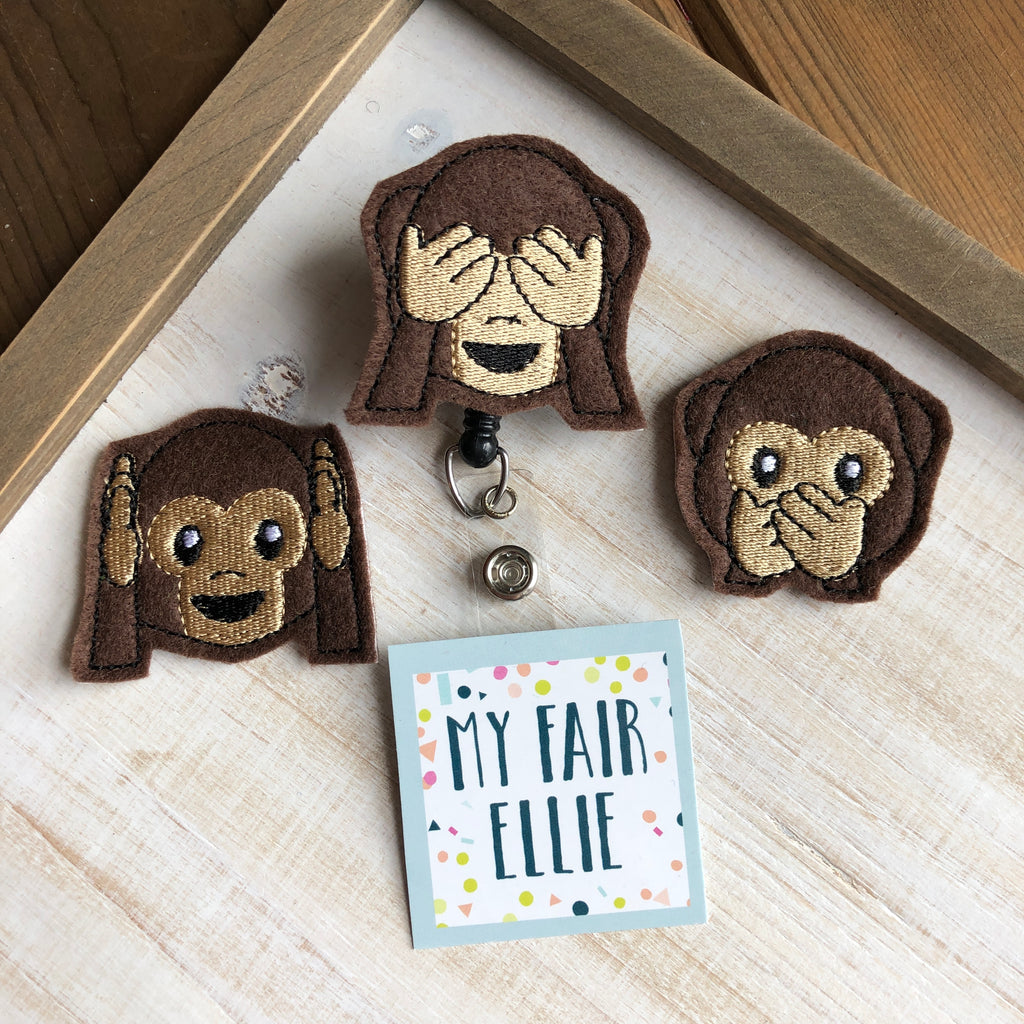 Evil Monkey Badge Buddy - TOPPER ONLY!