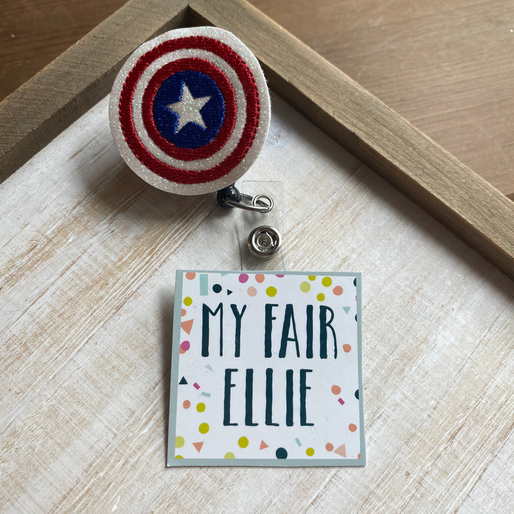 Captain America Badge Buddy - TOPPER ONLY!