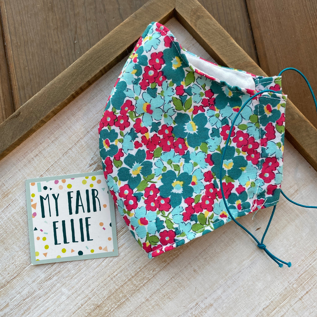 Floral Fabric Mask // My Fair Ellie Fabric Mask