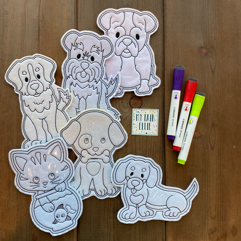 Pets // Dog // Cat Coloring Doll