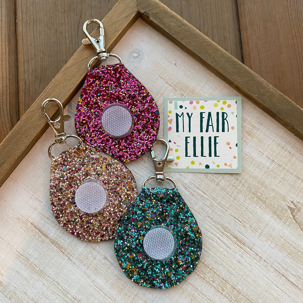 Interchangeable Glitter Keychain