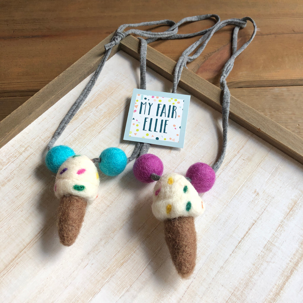 Ice Cream Cone Necklace