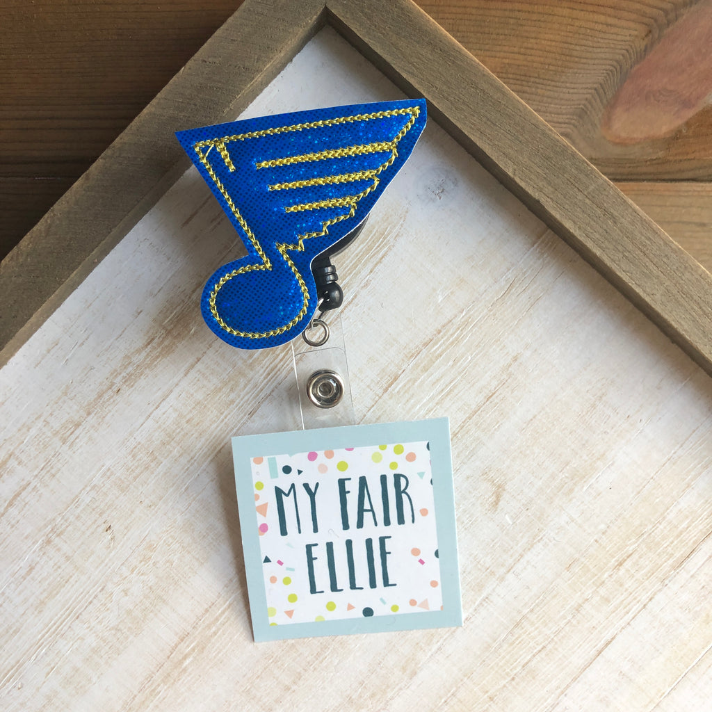 Blues Hockey Badge Buddy - TOPPER ONLY!