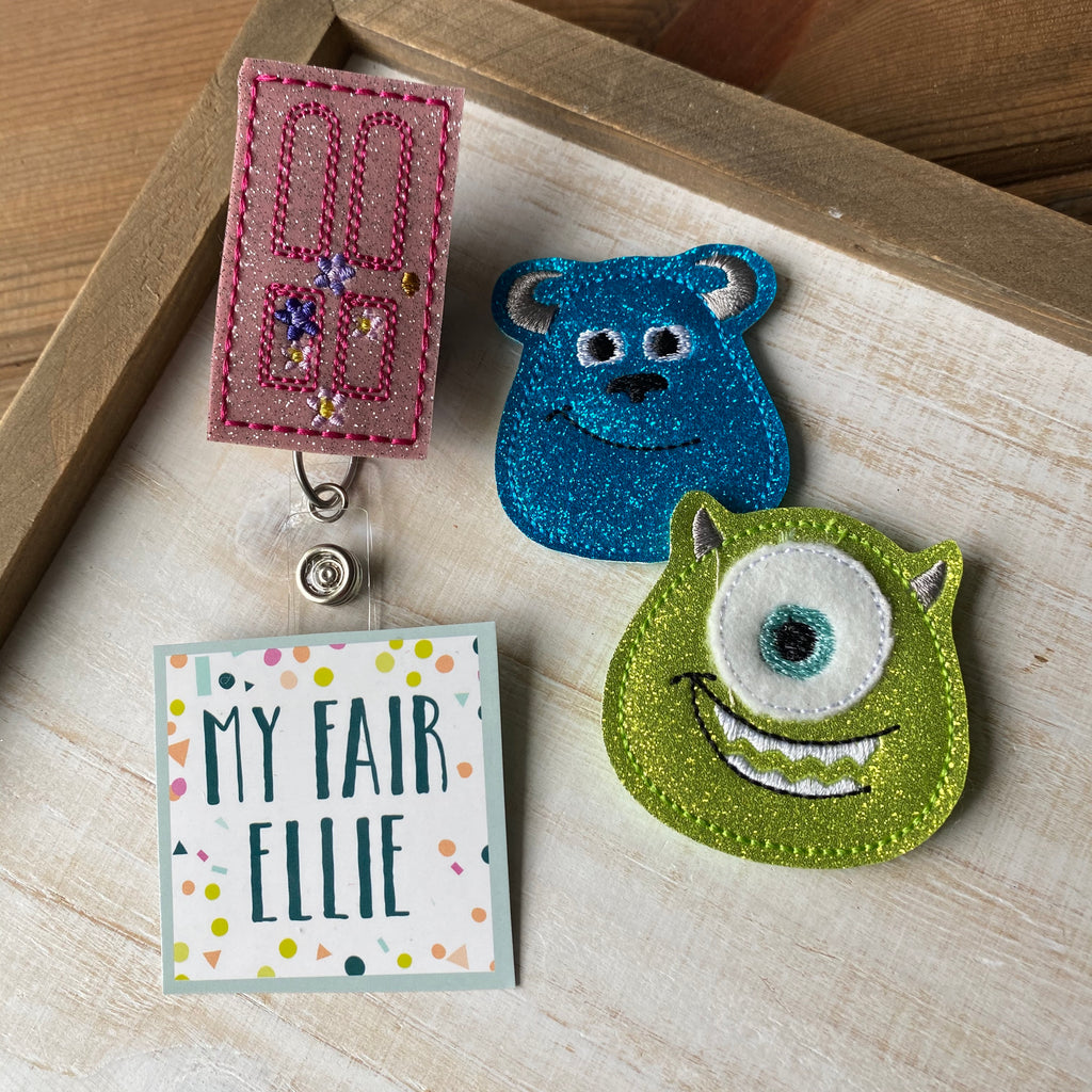 Monsters Inc Badge Buddy // TOPPERS ONLY!