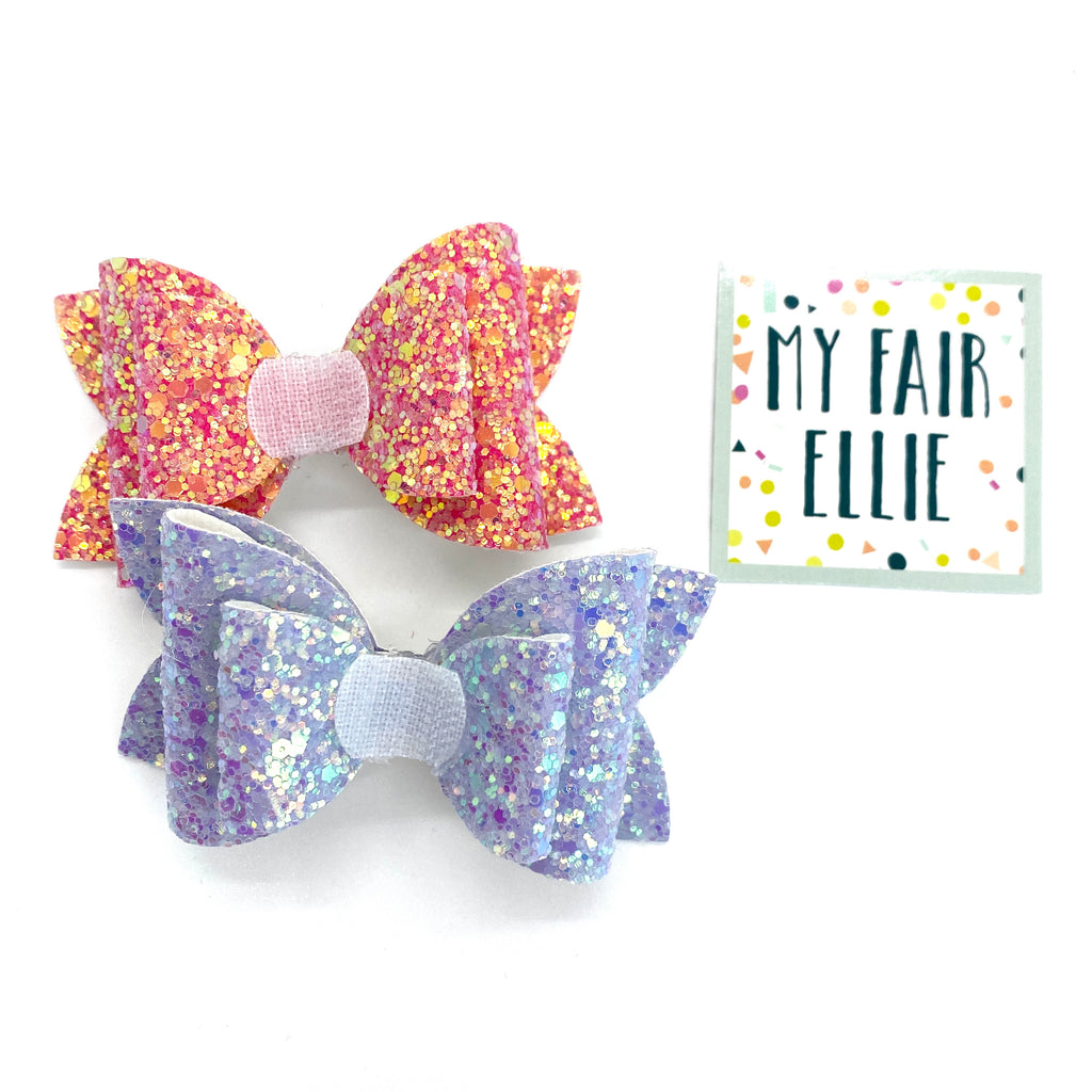 Fierce Pink & Lilac // Interchangeable Nellie Bow