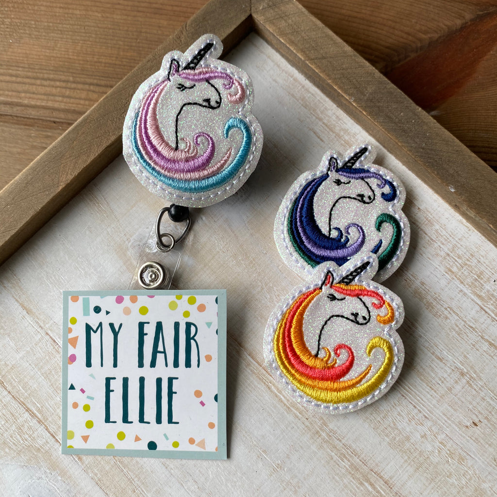 Unicorn Badge Buddy // TOPPERS ONLY!