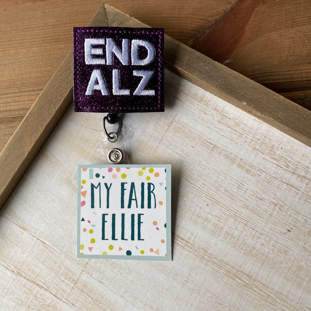 END ALZ Badge Buddy // TOPPERS ONLY!