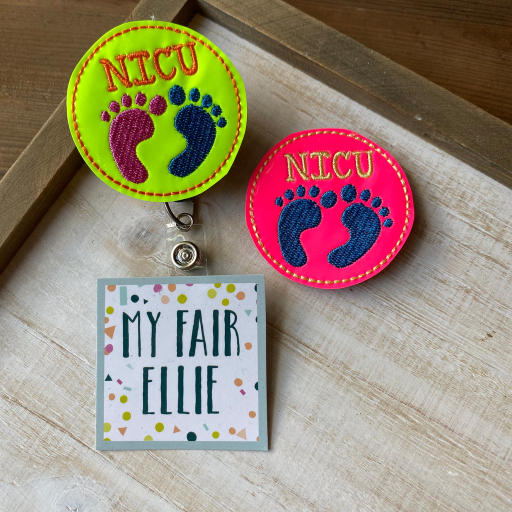 Neon NICU Badge Buddy // TOPPERS ONLY!