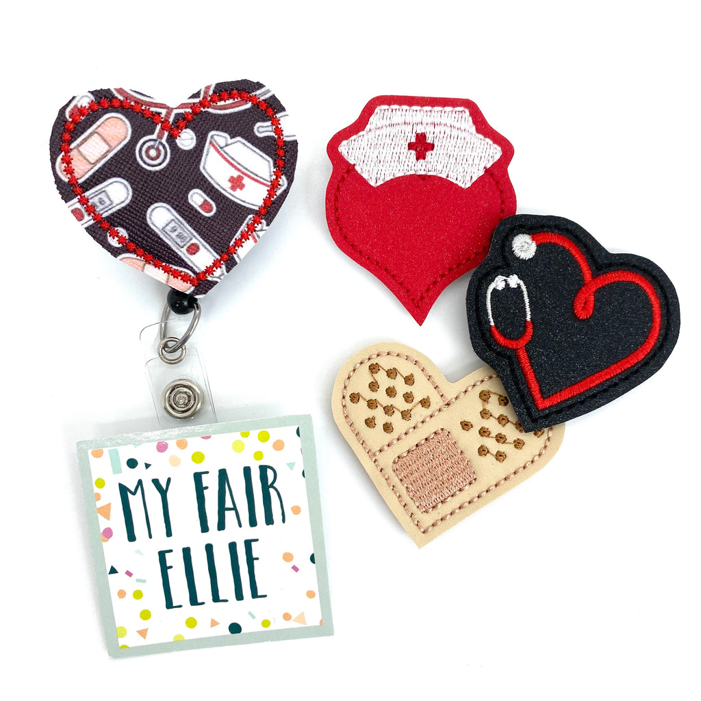 Medical Hearts // Nurse Heart // Badge Buddy