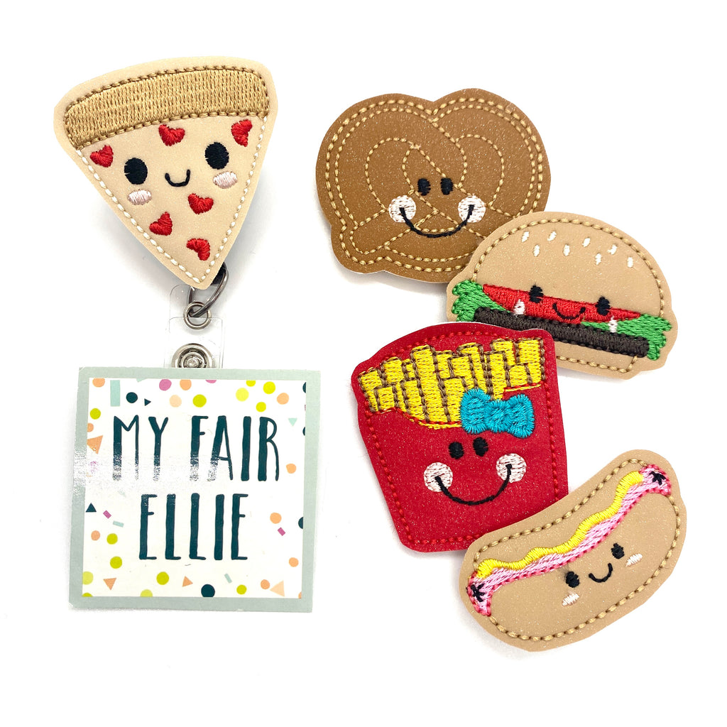 Fast Food // Snacks // Pizza Badge Buddy - TOPPER ONLY!