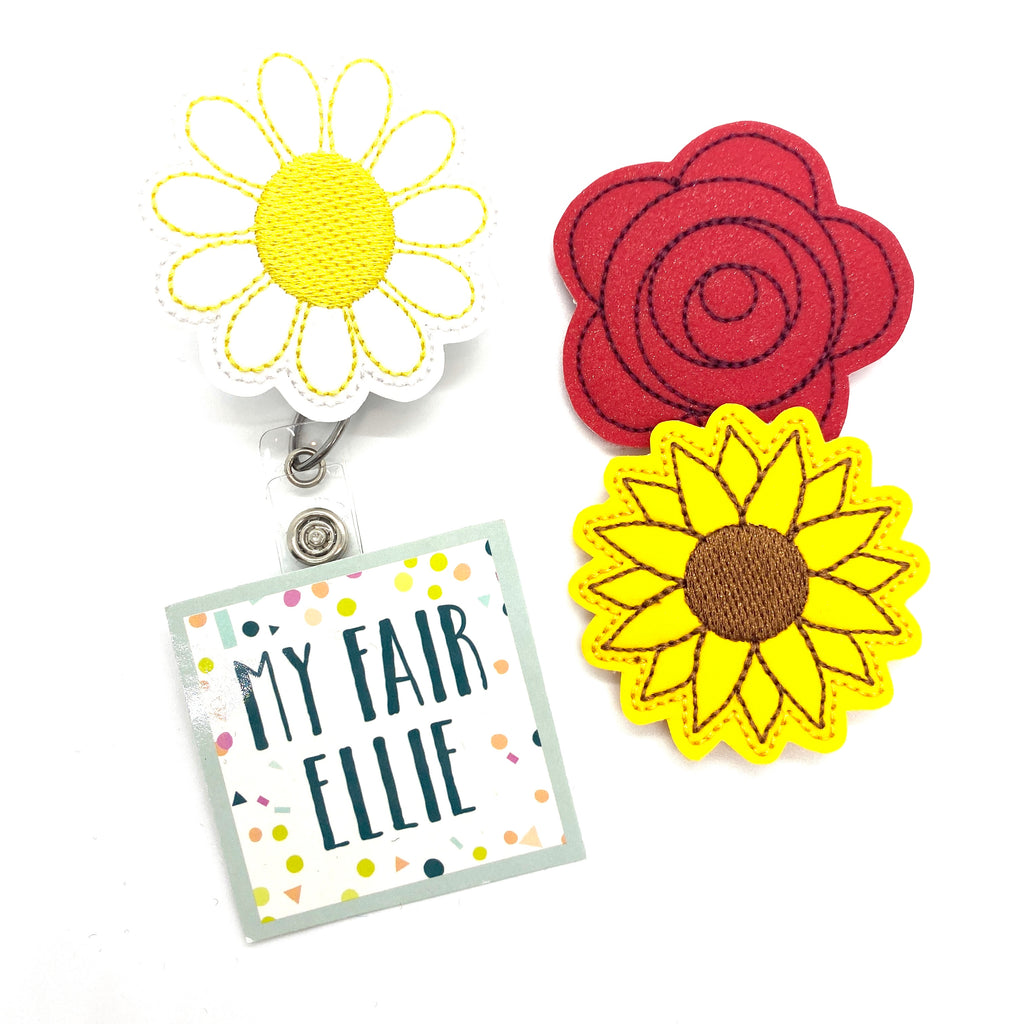 Flowers Badge Buddy - TOPPER ONLY!