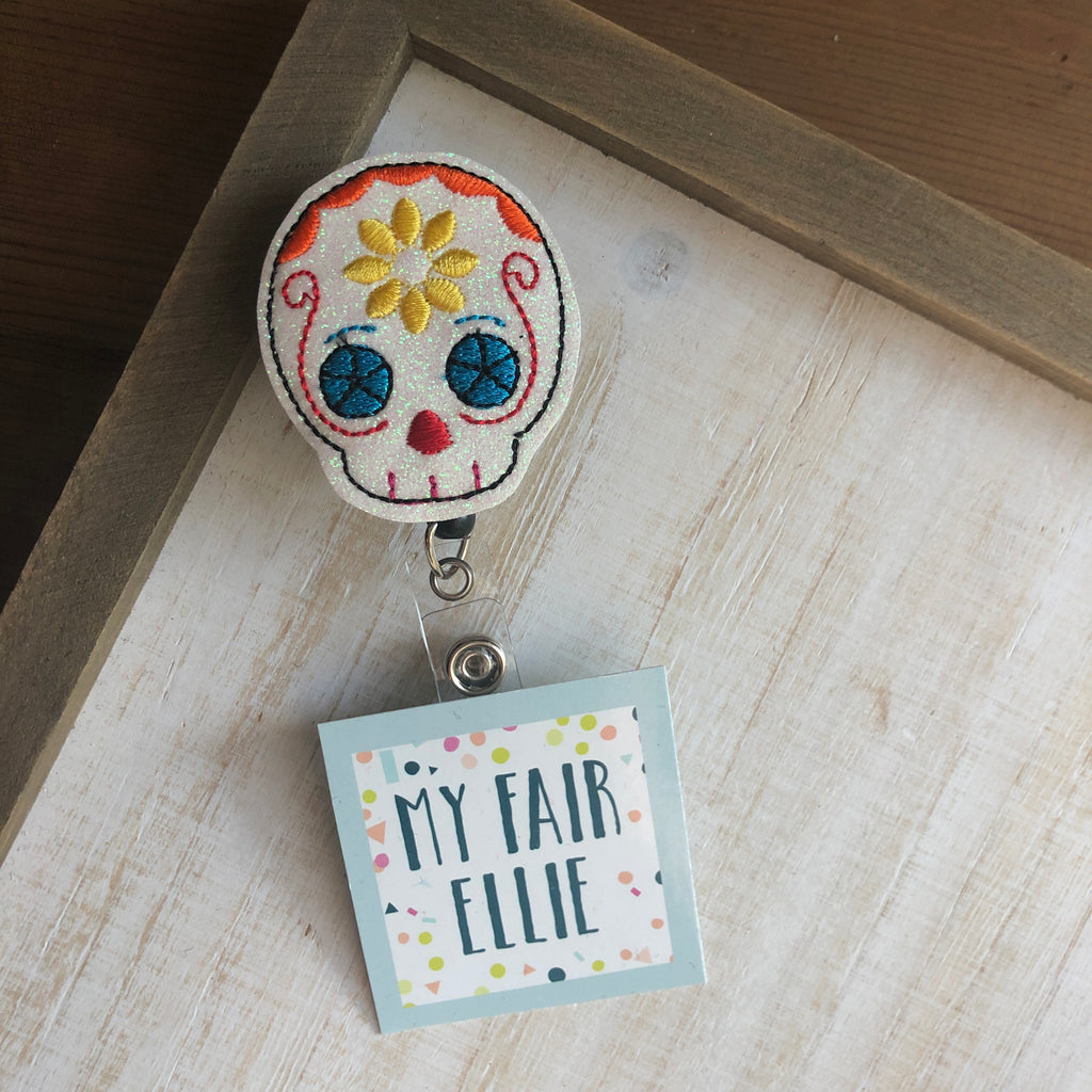 Sugar Skull Badge Buddy - TOPPER ONLY!