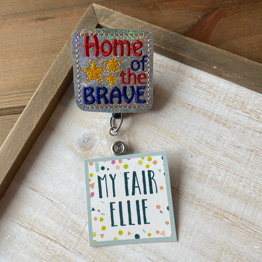 Home of the Brave Badge Buddy // PARTY IN THE USA // TOPPER ONLY!