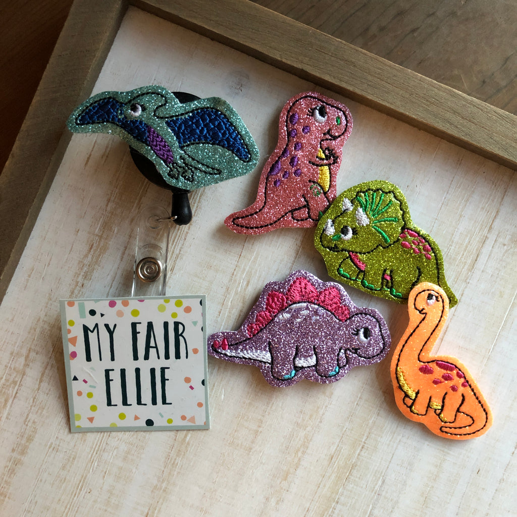 Dinosaur Badge Buddy - TOPPER ONLY!