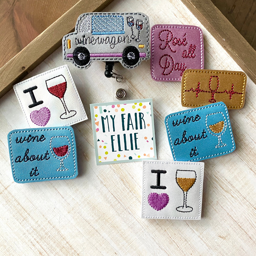 Wine Badge Buddy // TOPPER ONLY!