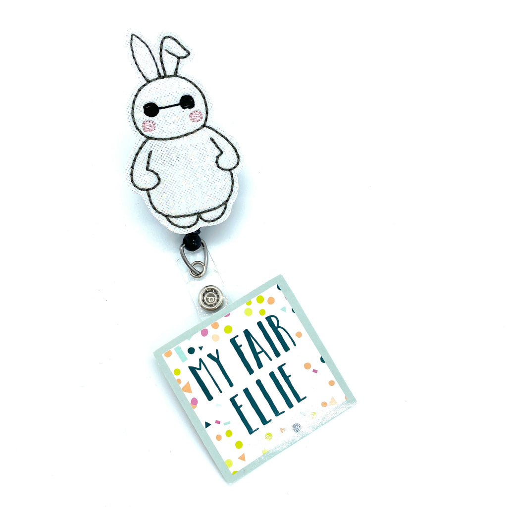 Easter Baymax Bunny // Big Hero // Badge Buddy - TOPPER ONLY!