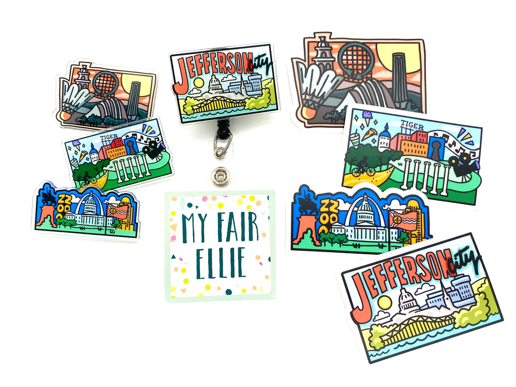 Hometown Love // A Collaboration with Adrienne Luther & MFE // Badge Buddy & Sticker - TOPPER ONLY!