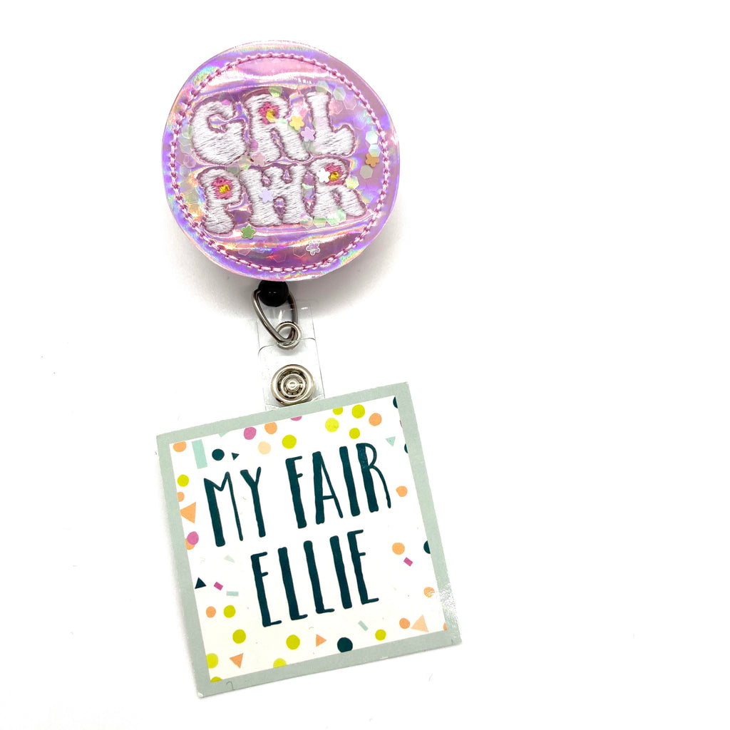 Girl Power Shaker // Badge Buddy - TOPPER ONLY!