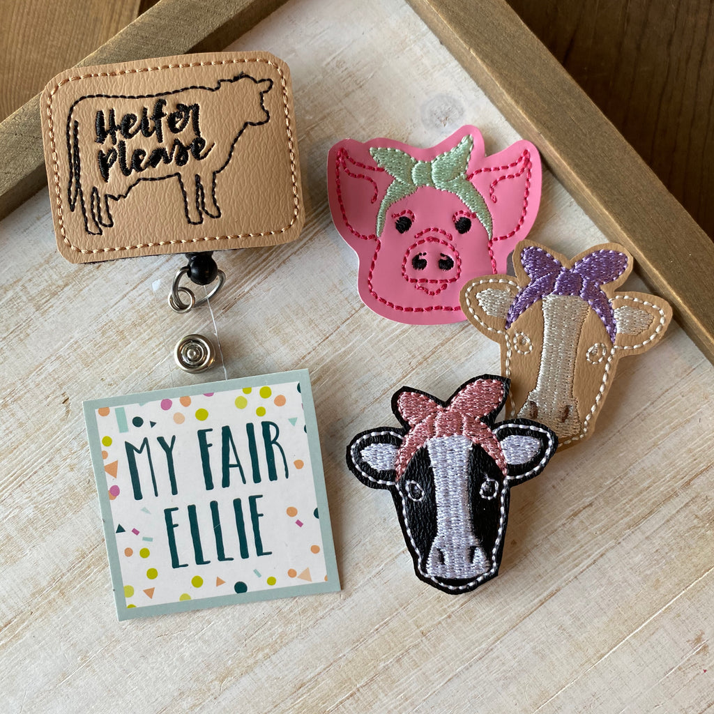 Heifer Please // Cow // Pig Badge Buddy - TOPPER ONLY!