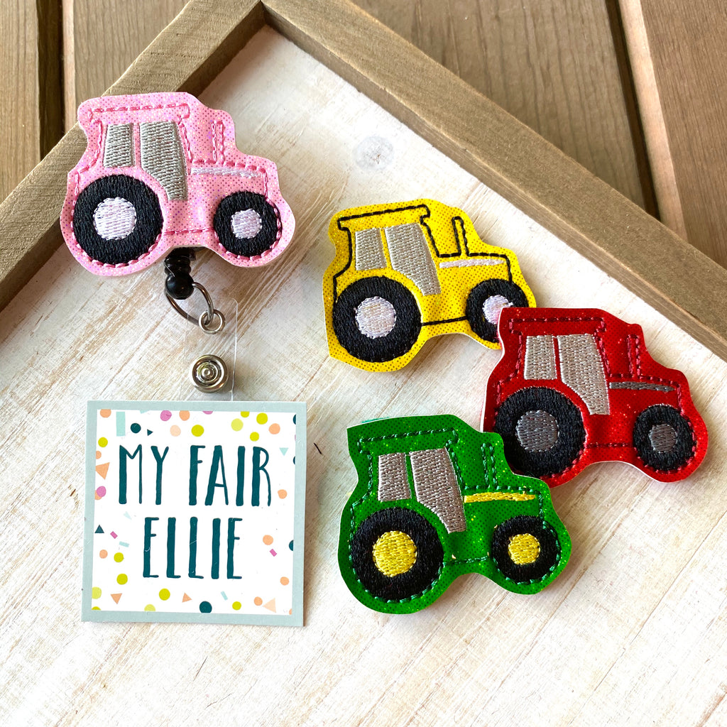 Farm Tractor Badge Buddy - TOPPER ONLY!