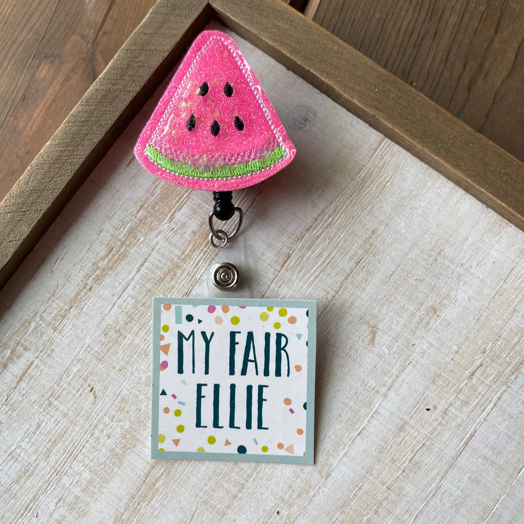 Watermelon Shaker Badge Buddy - TOPPER ONLY!