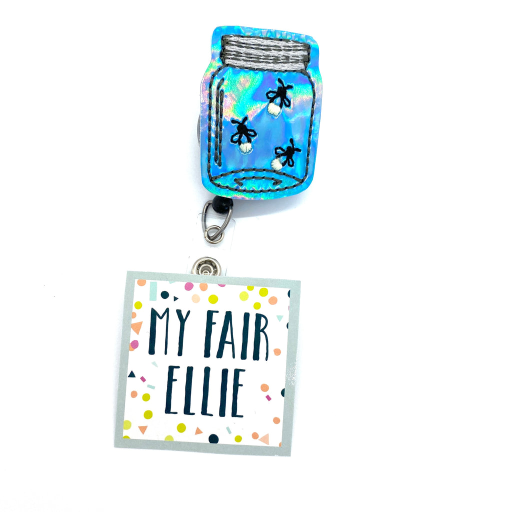 Jar of Fireflies // Badge Buddy - TOPPER ONLY!