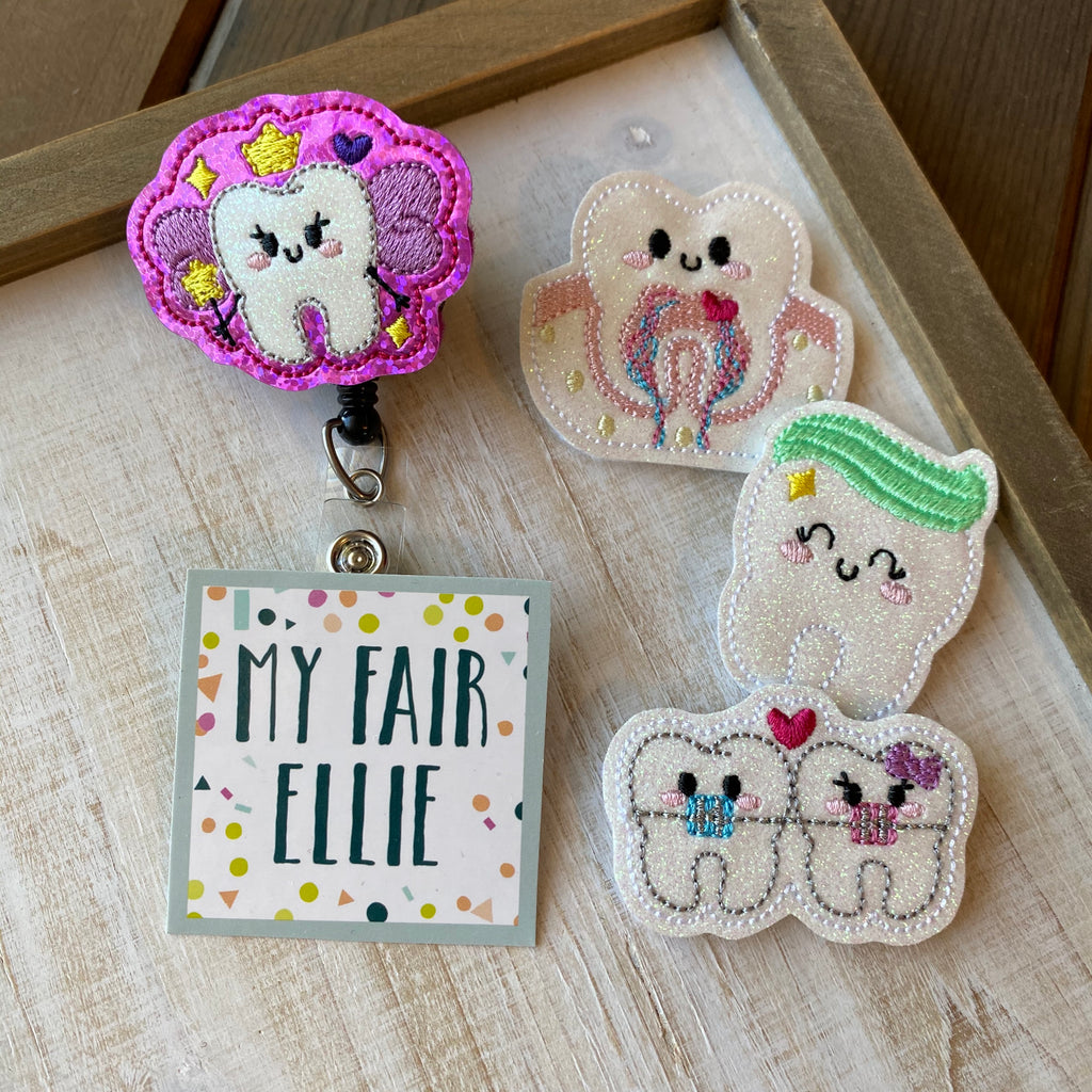 Dental // Tooth Badge Buddy - TOPPER ONLY!