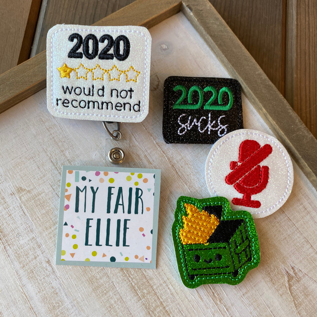 2020 Sucks // Dumpster Fire Badge Buddy // TOPPERS ONLY!