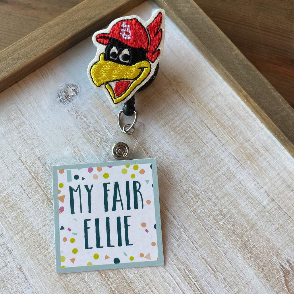 Fred Bird // STL Cardinals Badge Buddy - TOPPER ONLY!