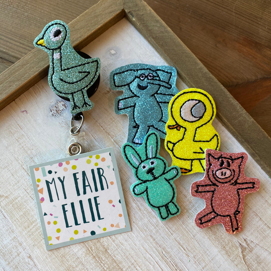 Mo Willems Characters Badge Buddy // TOPPERS ONLY!
