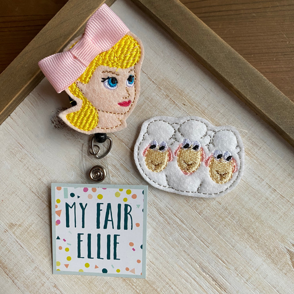 Bo Peep & Sheep Badge Buddy - TOPPER ONLY!